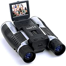 PIGE Cámara del telescopio Pantalla LCD de la cámara digital de 5 megapíxeles Prismáticos 12x32 foto video grabadora digital para observar aves, partido de fútbol, concierto