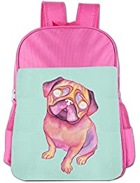BlackPink Watercolor DOG Cute School Bag Backpack For 4~15 Years Old Children