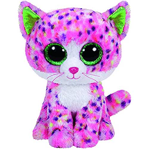peluches TY - Beanie Boos Sophie, gato, 15 cm, color rosa (United Labels Ibérica 36189TY)