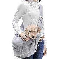 Poppypet Transporttasche für kleine Hunde und Katzen, hundetaschen für kleine hunde, tragetasche katze, Oxford Tuch Single-Schulter Sling, Grey