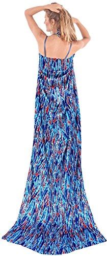 regali sarong involucro astratto costume da bagno dello swimwear pareo hawaiian costume da coprire donne beachwear Blu 1