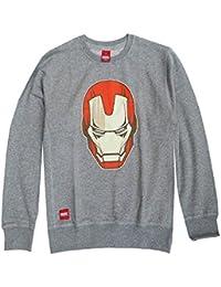 Addict Marvel Iron Man Iron Maske Crew Herren Sweatshirt