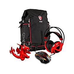 MSI Gaming Xmas Pack 2016 for GE Hecate Gaming-Rucksack, SteelSeries Gaming-Maus und Lucky-Schlüsselanhänger
