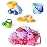 BOROK 5St. Kinder Strandspielzeug Set Badespielzeug Sandspielzeug Sand Bagger Wasserspielzeug Kleinkinder Spielzeug für Badeurlaub