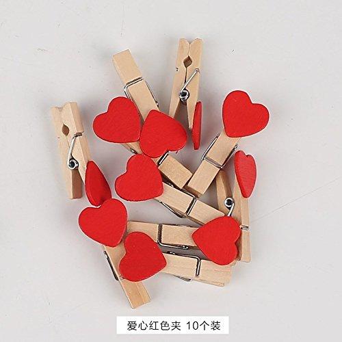KINEJ Cadre Photo Grille de Mur à l'arrière-Plan, Red Love Clip