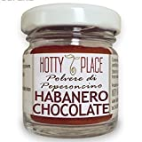 Habanero CHOCOLATE Chili Pulver MITTEL SCHARF Sehr aromatisch 10g glas