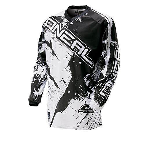 Oneal Element Shocker MX-Jersey, Farbe Schwarz/Weiss, Größe L