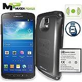 Samsung Galaxy S4 Active AT & T I537 - Batterie Aspen 5500mAh de Mugen avec 2x plus d'alimentation (prise en charge NFC et chargeur sans fil) avec couverture de couleur Gris foncé [Offre 24 mois de garantie]