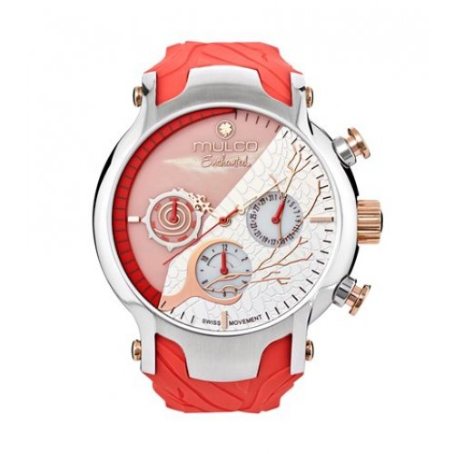 Mulco watch MW5-3812-633 Female Rosa Silicone Multifunction