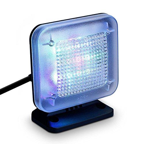 SAFETYON LED TV-Simulator mit zeitschaltuhr Lichtsensor, Fake-TV Lichtsimulation, Fernsehsimulator Einbruchschutz zur Home Security EU
