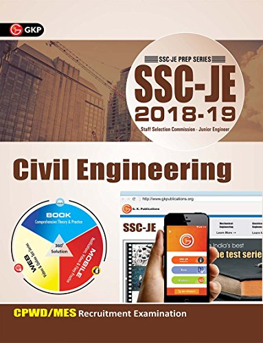 SSC JE (CPWD/MES) Civil Engineering for Junior Engineers Recruitment Examination 2018-19