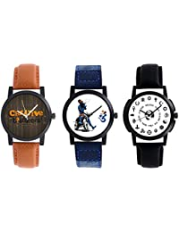 A R Sales Combo Of 3 Analog Watch For Mens And Boys