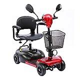 HOPELJ Elektromobil Auf 4 Rädern,E-Scooter Elektrischer Krankenfahrstuhl 20AH Lithiumbatterie 6 Km/H Schnell 25 KM Reichweite