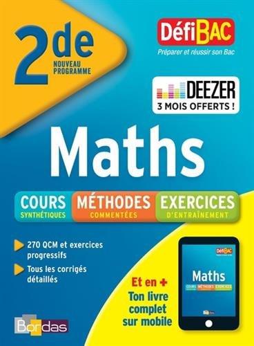 DéfiBac Cours/Méthodes/Exos Maths 2de + 3 mois offerts à Deezer Premium +
