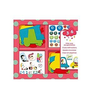 Djeco Me Gustan Los Coches - Juego Educativo Crear Con Pegatinas, Multicolor