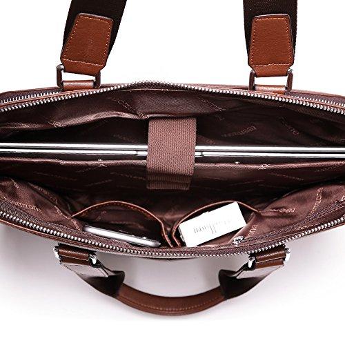 192ec91d5930c Teemzone Leder Aktenmappen Ledertasche Unitasche Collegetasche Lehrertasche  Bürotasche Arbeitstasche Aktentasche Umhängetasche Tablettasche Rindleder  Tasche ...