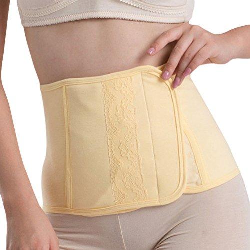 Dexinx Postpartum Bauch Wrap Gürtel Schwangerschaft Erholung Gürtel Korsett Taille Trainer Band Komfortable Atmungsaktive Body Shaper Hautfarbe L