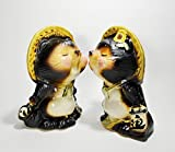 Shigaraki Pottery SHIGARAKI Keramik 19,5cm Paar Kiss Waschbär, Hund Kiss Tanuki Made in Japan