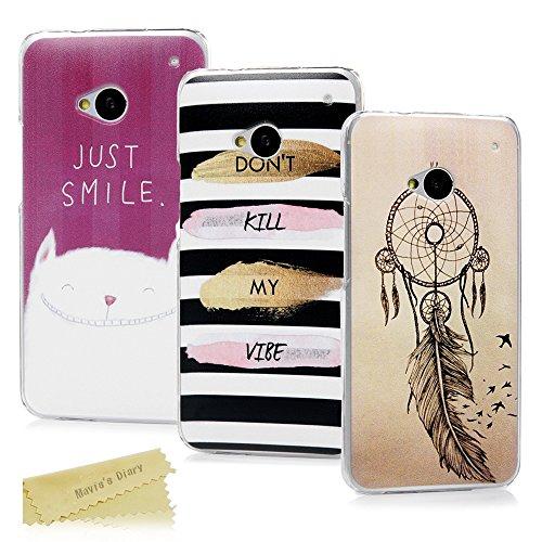 HTC One M7 Hülle Mavis's Diary 3x Case PC Plastik Hardcase Back Cover Tasche Schutzhülle Anti-Scratch Telefon-Kasten Handyhülle Handycover Bumper Fall Euit