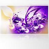LanaKK - Lightning Lila - Fototapete Poster-Tapete - edler Kunstdruck auf Vliestapete mit Stuck Optik in 300x180 cm