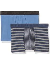 Puma Herren Striped Color Block Boxer 2p Unterhose