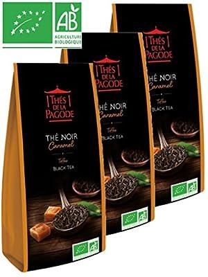 Thés de la Pagode - Thé NOIR CARAMEL Toffee Black Tea BIO - 3 x 100g