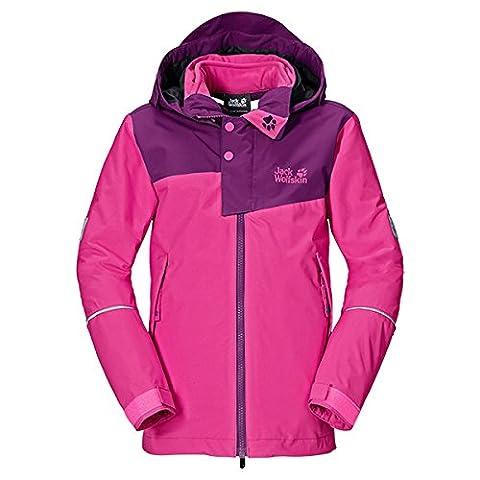 Jack Wolfskin Mädchen 3in1-Jacke Girls Snow Wizard Jacket, Pink Passion, 164, 1604041-2112164