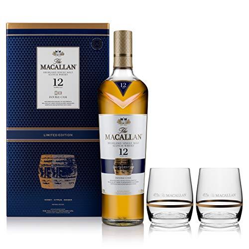 Macallan 12Y Double Cask con 2 vasos Whisky Escocés - 700ml