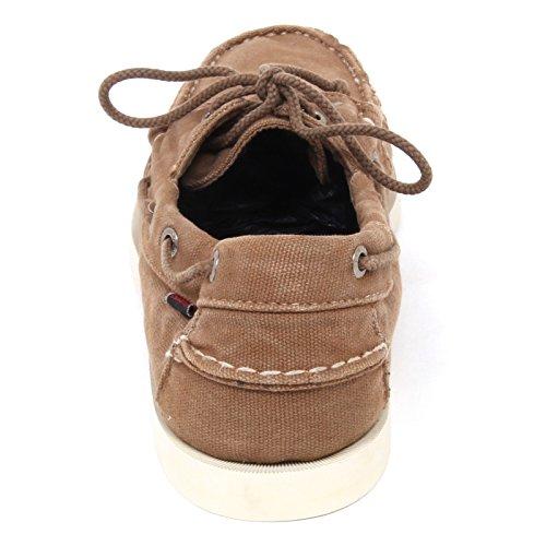 Sebago E0956 (Without Box) Mocassino Uomo Canvas Vintage Loafer Shoe Man Marrone chiaro