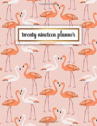 Twenty Nineteen Planner: Cute Pink Polka Flamingo Weekly and Monthly 2019 Organizer. Stylish Exotic Yearly Agenda, Journal and Notebook (January 2019 - December 2019). por Nifty Planners