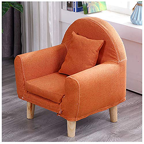 WJH Kinder Sofa,Kinder Sessel Mini Single Möbel Stetigen Haltbarkeit Gemütlich Cute Faul Cartoon Forliving Zimmer Schlafzimmer Indoor-orange 43x51cm(17x20inch) - Möbel Single
