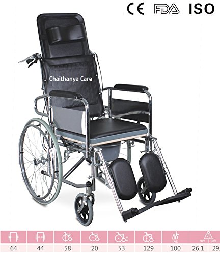 Buy FC Premium Folding Commode Wheelchair- Reclining Wheel Chair Online at Low Prices in India - Amazon.in  sc 1 st  Amazon.in : reclining commode - islam-shia.org