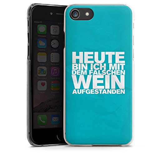 Apple iPhone X Silikon Hülle Case Schutzhülle Wein Sprüche Statement Hard Case transparent
