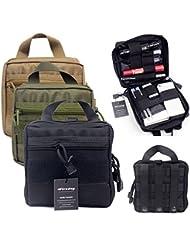 Bolsa organizadora para equipo de primeros auxilios/paramédico, bolso militar MOLLE para mochila (negro).