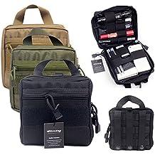 Táctico Molle bolsa de organizador/bolsa de Kit de primeros auxilios médico EMT utilidad Gear bolsa para mochila (negro)