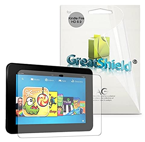GreatShield Anti-Glare (Matte) Clear Screen Protector Film for Kindle Fire HD 8.9 inch (3 Pack) - LIFETIME WARRANTY