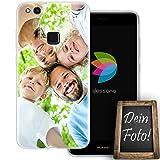 dessana Eigenes Foto Transparente Schutzhülle Handy Tasche Case für Huawei P10 Lite