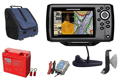 Humminbird Helix 5 CHIRP DI GPS G2 Echolot (200/455 + 455/800 kHz) Portabel-Set 1