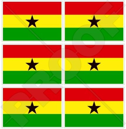 Ghana ghanaische Flagge Commonwealth, West Afrika 40mm (40,6cm) Mobile Handy Vinyl Mini Sticker, Aufkleber X6