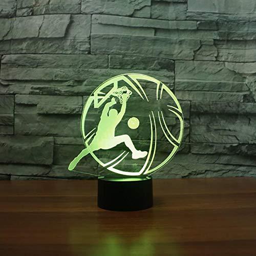 3D Nachtlicht Neuheit Basketball Slam Dunk 3DTischlampe Kreative Bunte Farbverlauf Nachtlicht Party Sport Schlafzimmer Dekor Schlaf Beleuchtung -