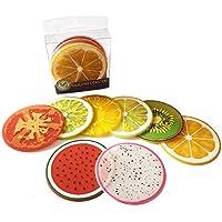 Demarkt 8 pcs Posavasos de color de frutas, posavasos de aislamiento de calor