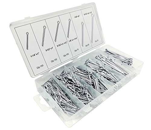555 tlg. Splinten Sortiment aus Stahl Sicherungssplinte Splint Sicherungsstift geeignet für Sicherungsbolzen Steckbolzen Bolzen Muttern