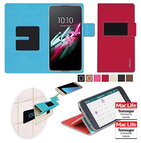 reboon Hülle für Alcatel OneTouch Idol 3 (5.5) Tasche Cover Case Bumper   Rot   Testsieger