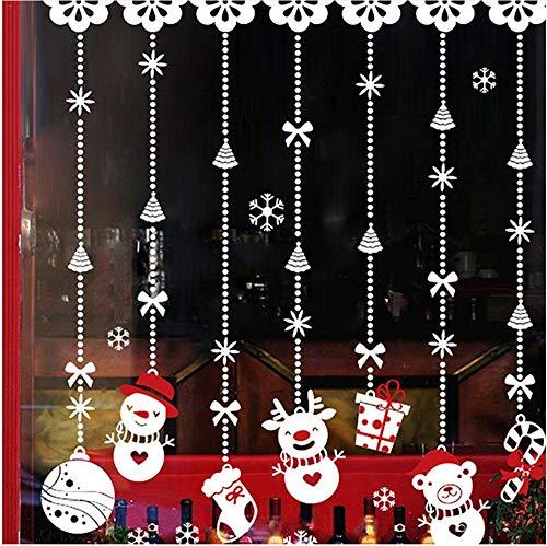 Shuyinju Pvc Weihnachtsdekoration Hängende Schneemann Wand Glas Fenster Aufkleber Aufkleber Dekor Zubehör Für Shop Bar Home Raamstickers Kerst - Bar Dekor Home Zubehör Und