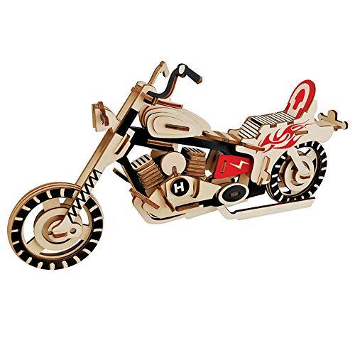 Madera del rompecabezas 3D de Madera del rompecabezas de la motocicleta Asamblea Animal Simulación Puzzle Modelo de juguete Juego Jigsaw (Llaves Para Juegos)