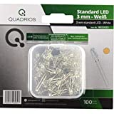 QUADRIOS Standard-LED-Set Warm-Weiß 3 mm Leuchtdioden und Dokumentation (100 Stück)