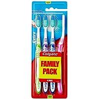 Colgate Extra Clean - Colgate Extra Clean - Cepillo de dientes medio, 4 unidades