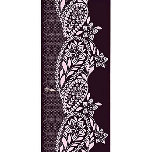 YJZ 3D Türaufkleber Dekoration Wandbild Türtapete Nahöstliche Blumenrebe Abnehmbar Selbstklebend Wasserdicht PVC Türposter Renovierung Tür Wohnzimmer Schlafzimmer Küche