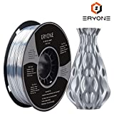 PLA Filament 1.75mm Silk Silver, ERYONE Silky Shiny Filament PLA 1.75mm, 3D Printing Filament PLA for 3D Printer and 3D Pen, 1kg 1 Spool