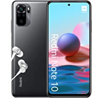 "Xiaomi Redmi Note 10 Smartphone + Kopfhörer (16,33 cm (6,43"") AMOLED Display, 128GB Speicher, 4GB RAM, 48MP Quad…"